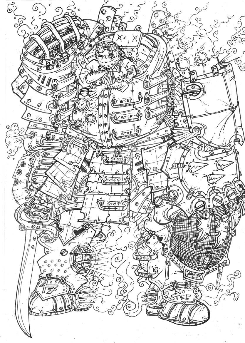 Steam Knight Gawain II by newvani