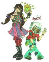 Psychonauts - Lili and Chloe by newvani