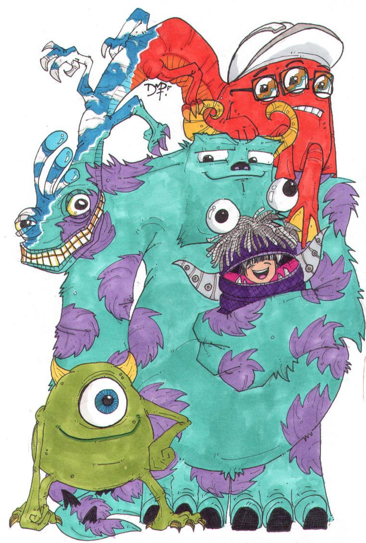 Colour Monsters Inc by newvani