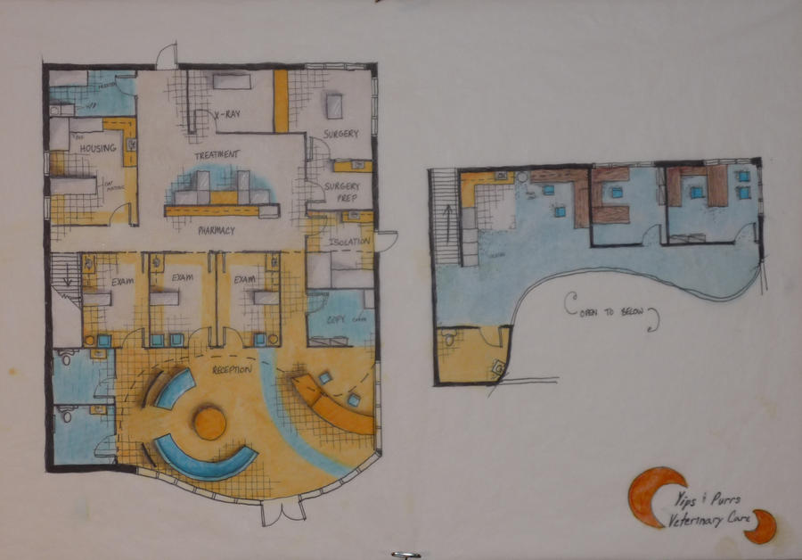 Yips And Purrs Vet Clinic Floor Plan By Cmwatts On Deviantart
