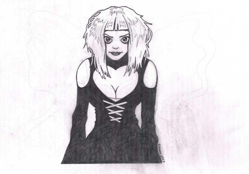 black heart dress by SilentGianni