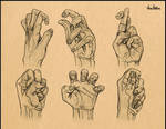 Detailed Hand Study - In Action.
