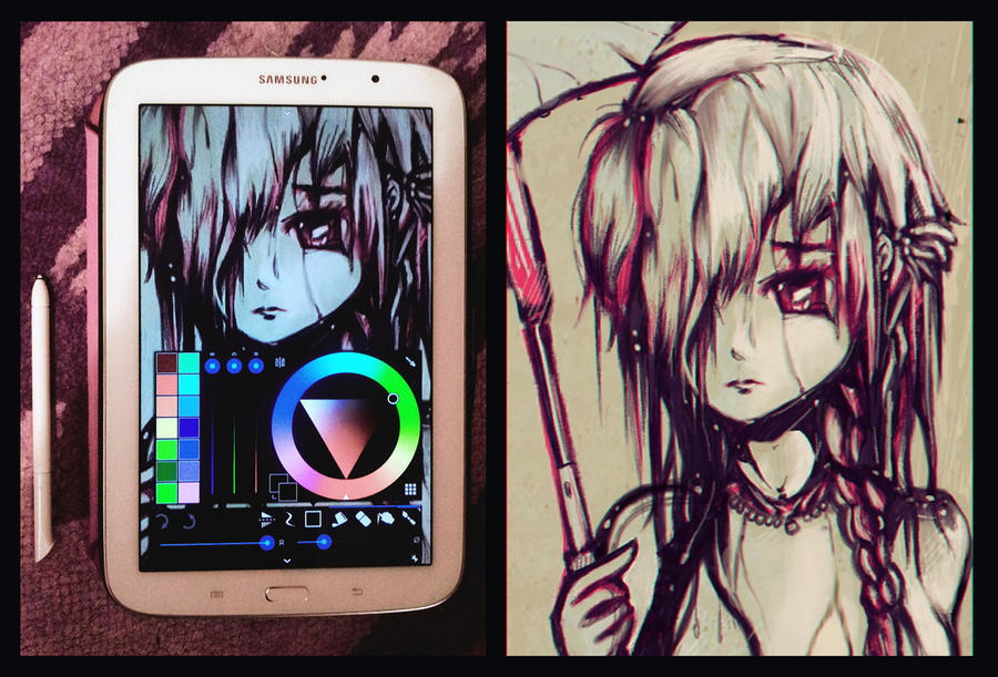 Tablet drawing attempt. by AaronMetallion