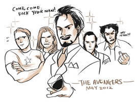 The Avengers: Hot man party
