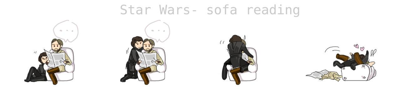 Star wars-sofa reading AniObi by koenta