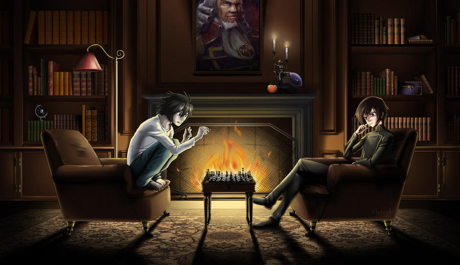 Lelouch and L playing chess by G-Matoshi on DeviantArt