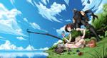 Yuffie and Ryu by G-Matoshi