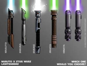 Naruto x Star wars Lightsaber's (Naruwars)