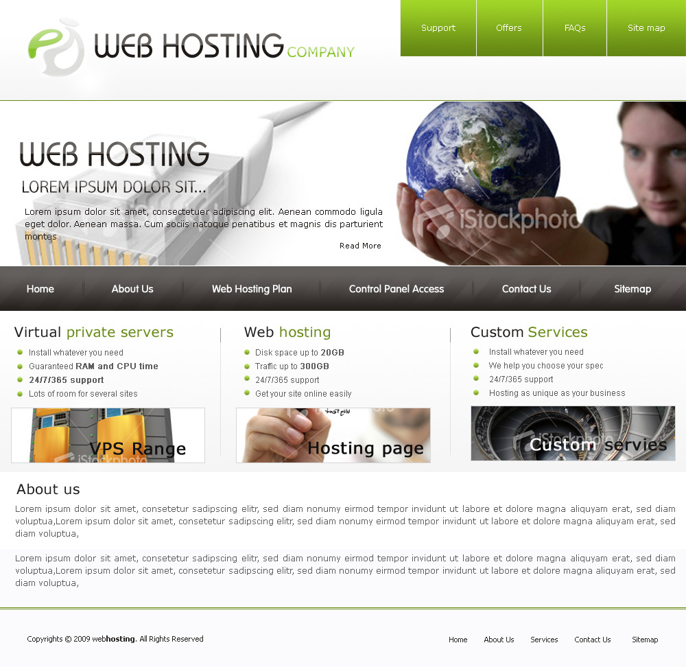 Web hosting company by webdziner