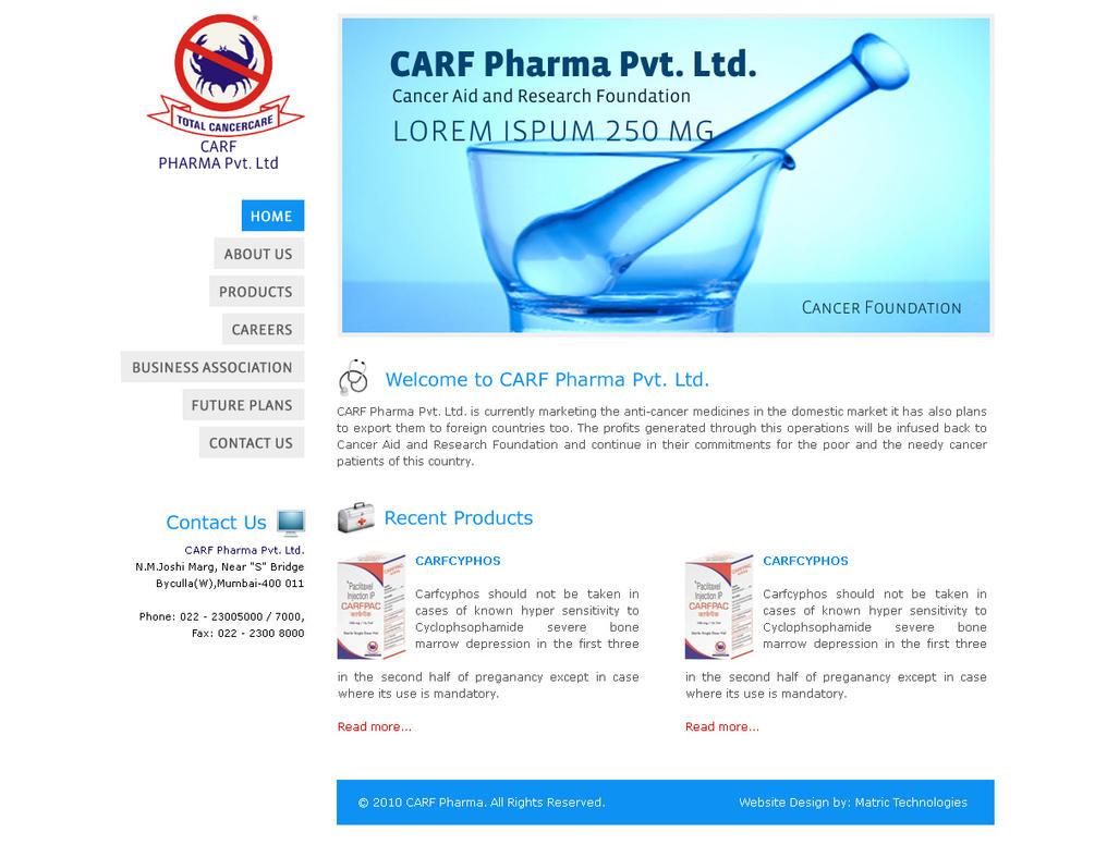 craf pharma layout by webdziner