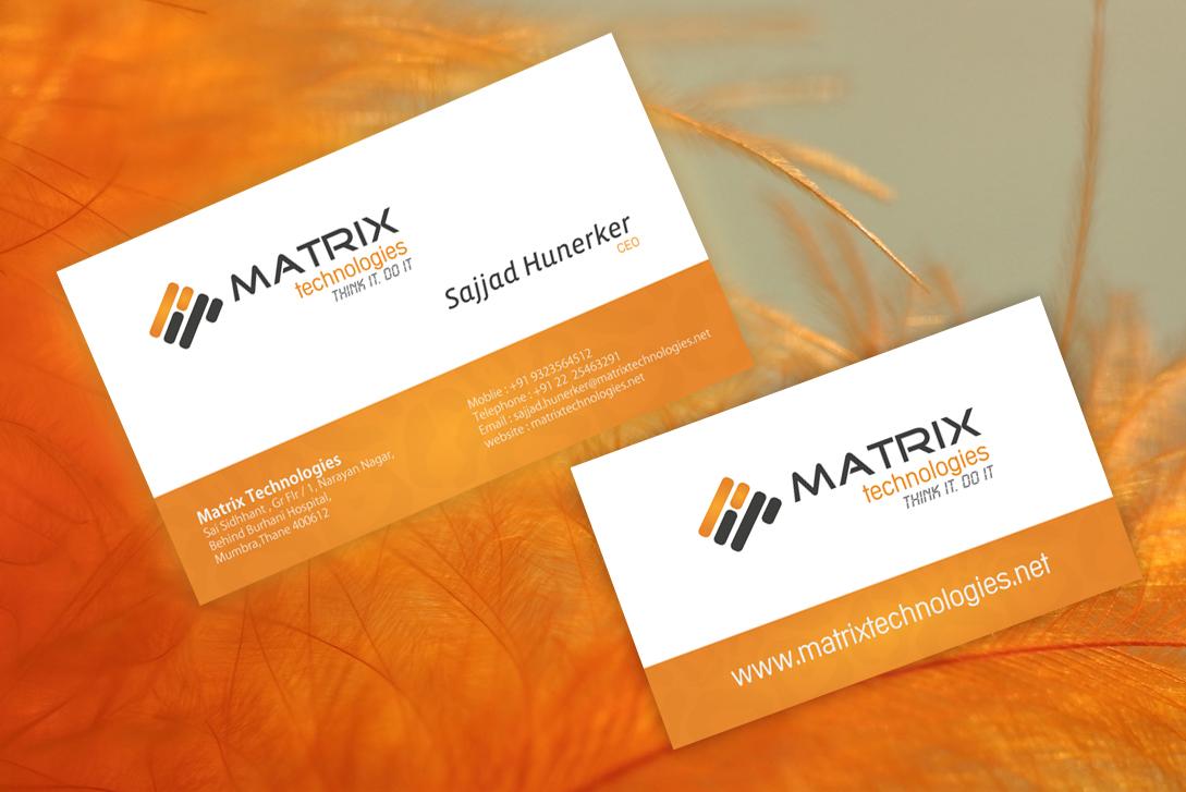 V Card Matrix V card by webdziner