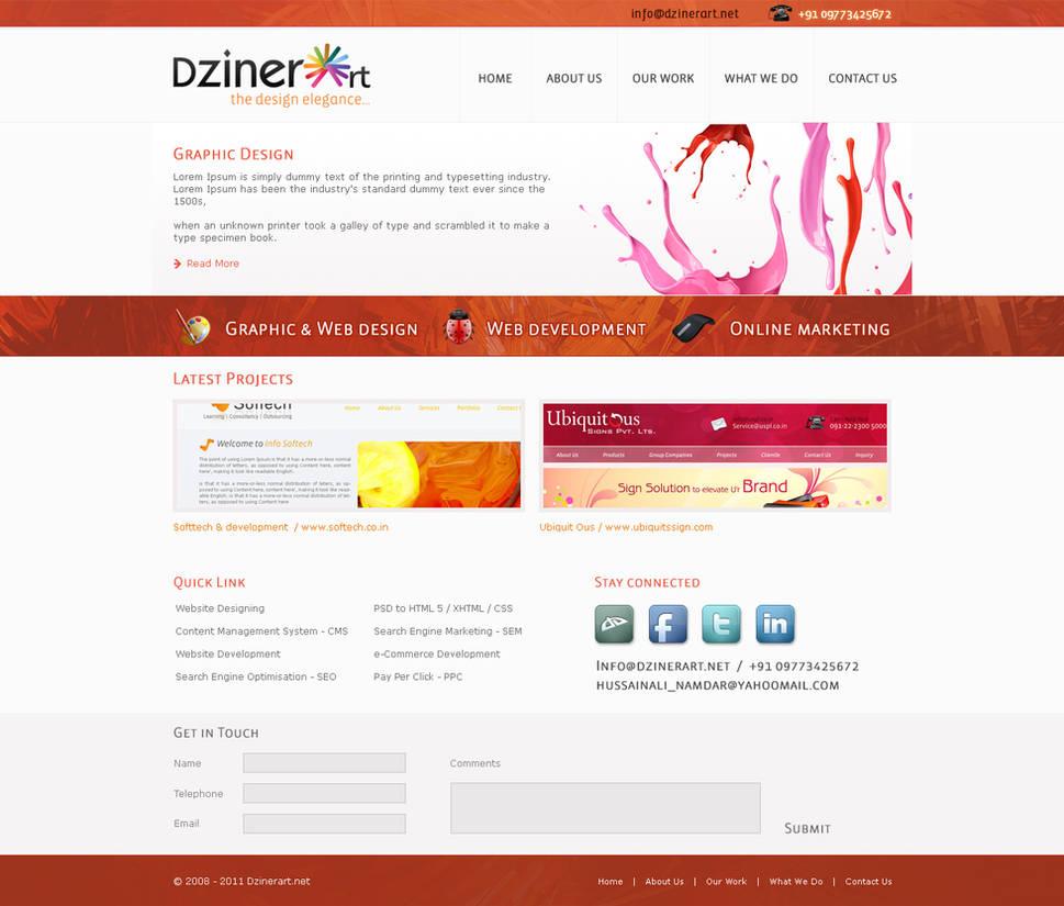 dzinerart layout, webdziner