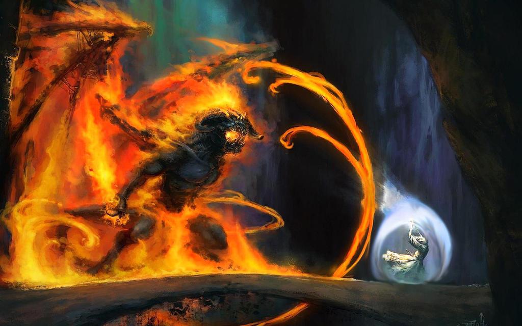 Gandalf vs Balrog by Skal0man on DeviantArt Gandalf Balrog Xp