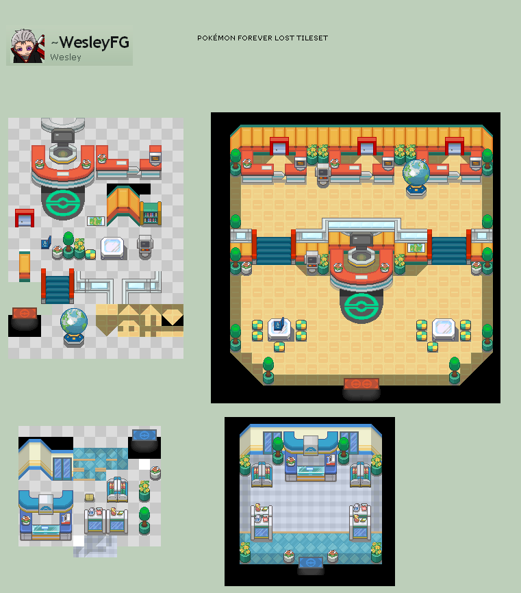 Indoor Tileset PC And Mart Pokemon Forever Lost By WesleyFG On