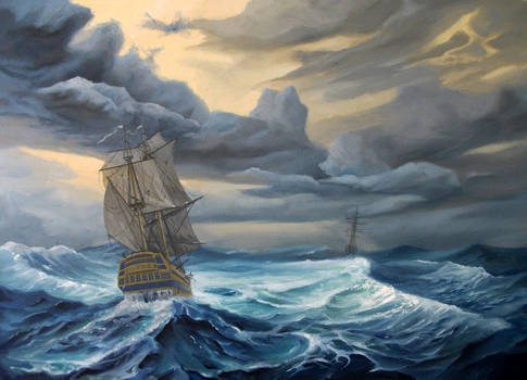 - The Coming Storm -    oil paint  50x70sm