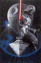 Lord Vader      acrylic paint   90x60 sm by StanislavSvetlozarov