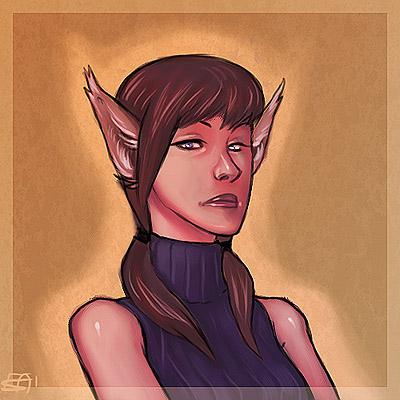 Adienne Portrait by Merystic