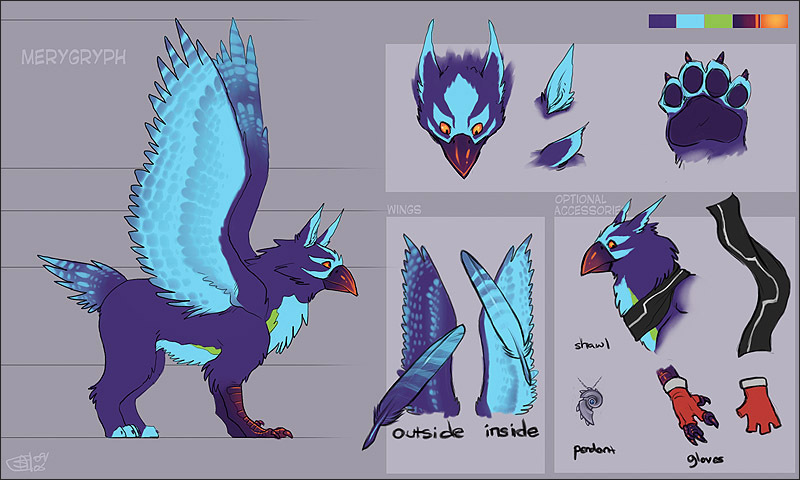 Merygryph Model Sheet by Merystic