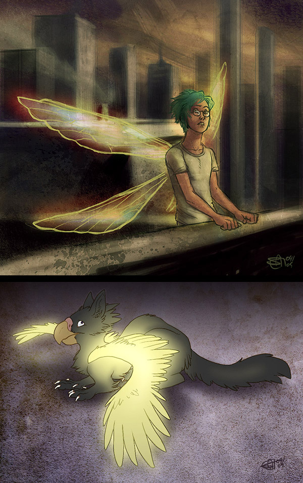 Soul Eater and Glowing Gryphon by Merystic