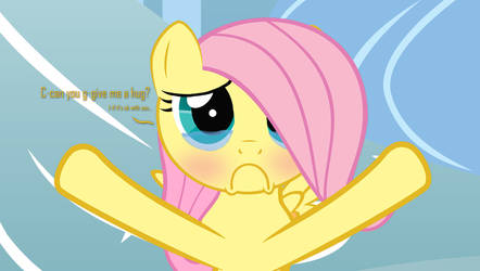 [HUGS] Filly Fluttershy -- C-can I have a h-hug? by ShutterflyEQD