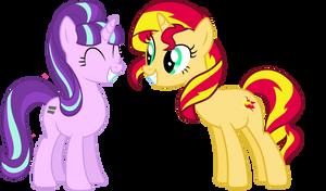 Two Happy Ponies