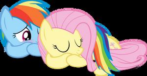 Adorable Sleeping FlutterDashie