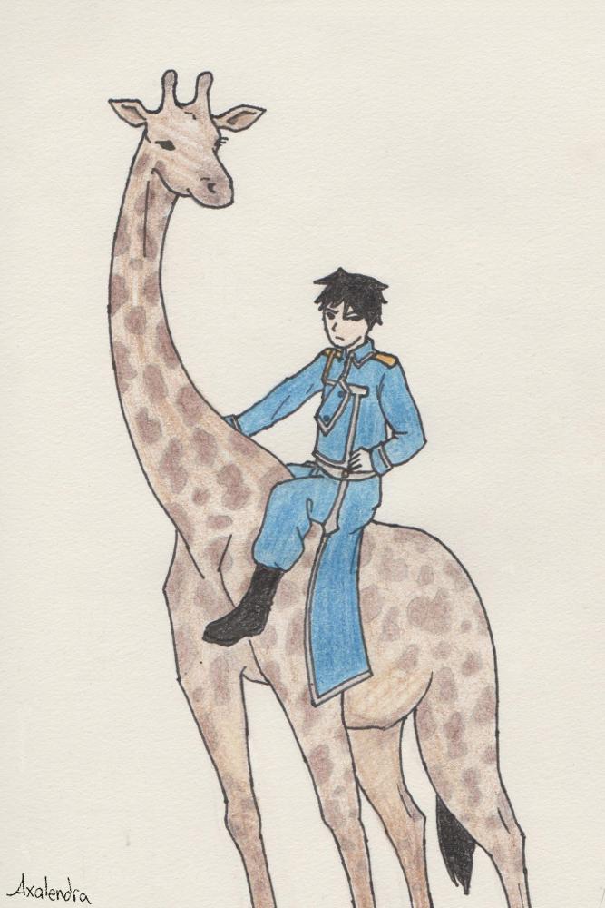 Roy On A Giraffe by axalendra