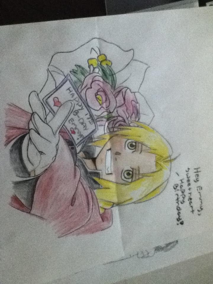 FMA Happy Birthday Drawing By AnimeEmm