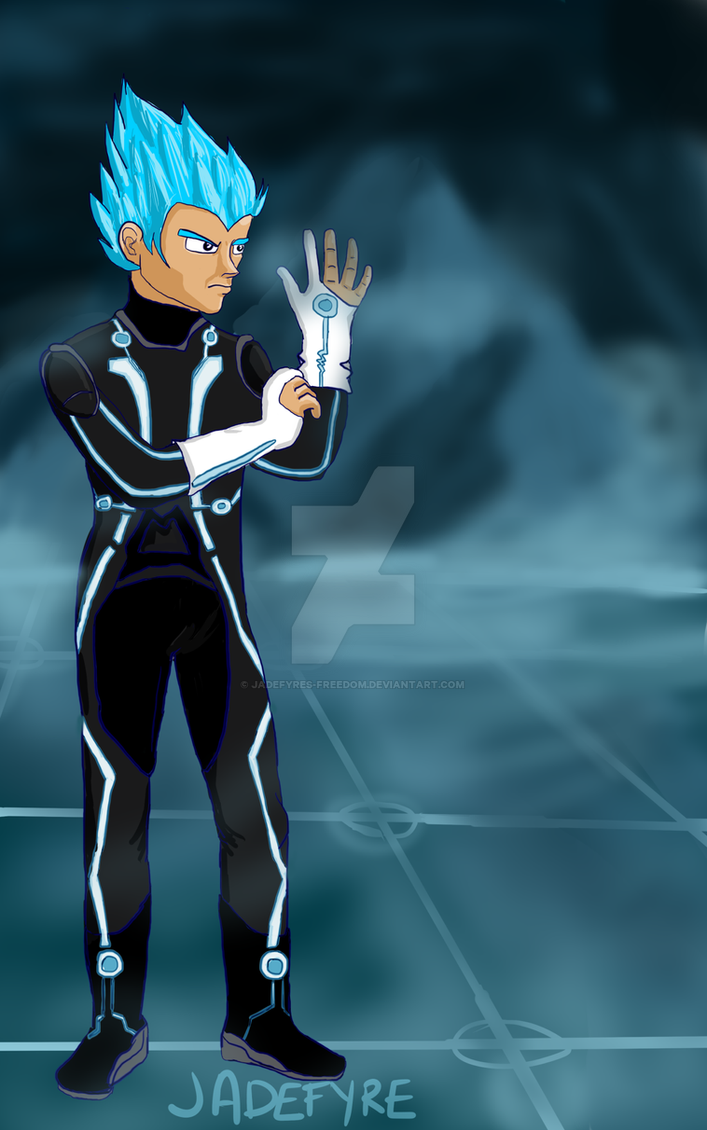 Vegeta -- Tron Legacy by jadefyres-freedom