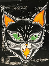  black meow  by Jo-Thatsall