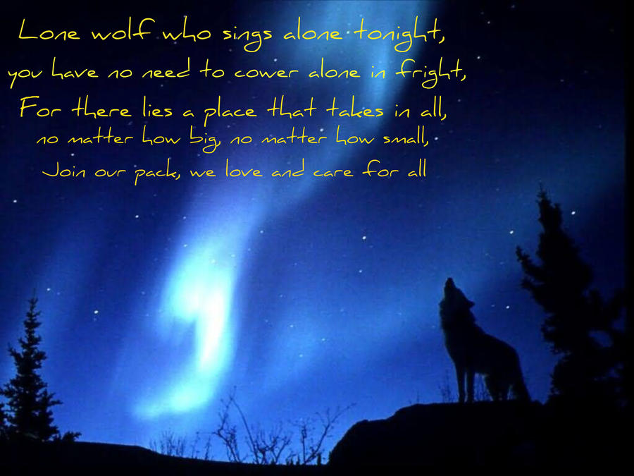 Lone Wolf Poems Lone Wolf Poem by
