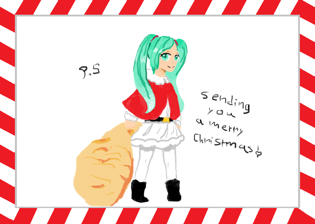 a miku christmas!!! by piping-hot-studio
