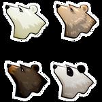 Sustainability Mascot Bears by novemberkris