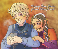 James and Rory New Year Wishes by novemberkris