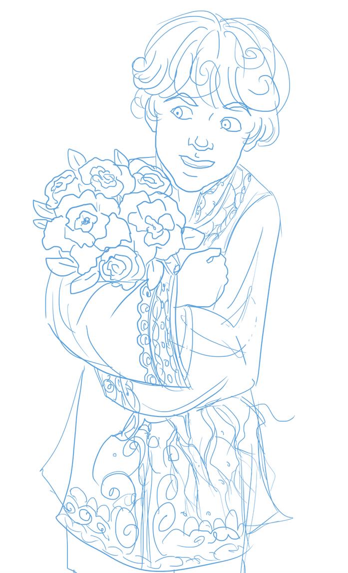 Jamesandflowers by novemberkris
