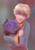 Tiny James and Flowers by novemberkris