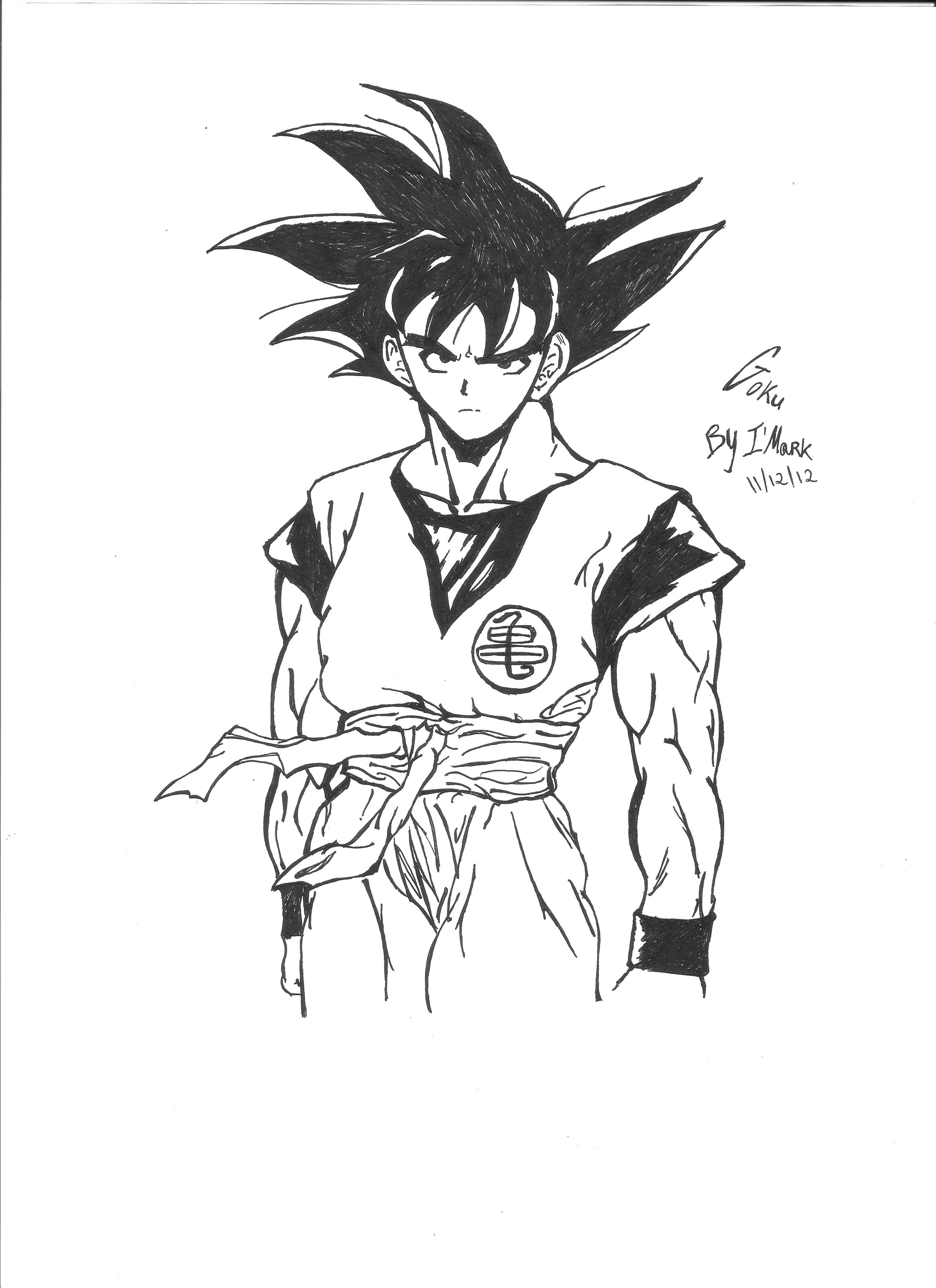 Drawing Of Goku - Dragon Ball Z By Markth23 On DeviantArt