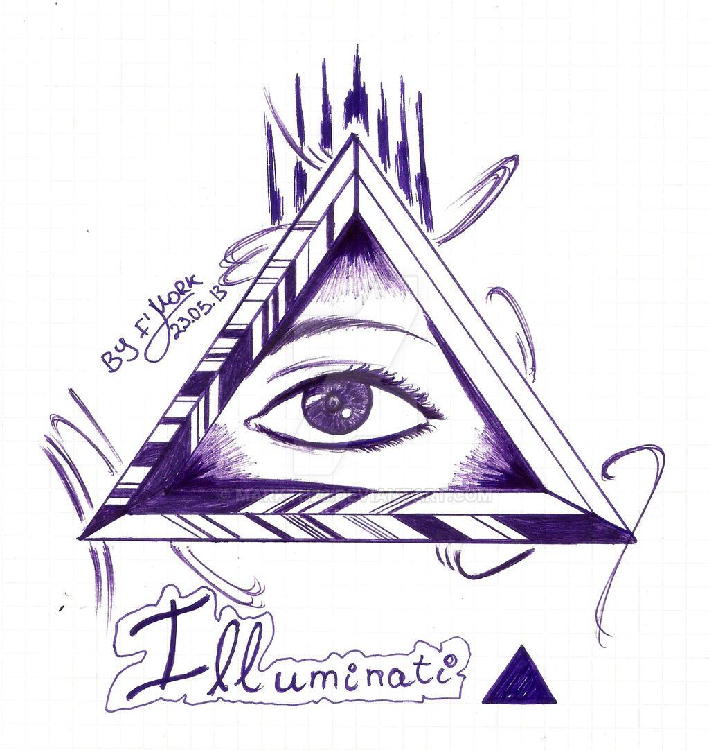 illuminati triangle and eye by markth23 on deviantart