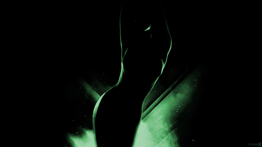 black_green_art_girl_wallpaper by smil3y1