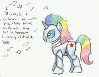 Robot unicorn pony by tamaraariel