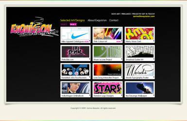 Old portfolio site by Exquision
