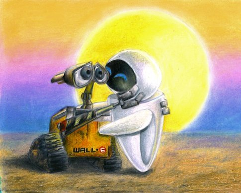 WALL E And EVE By SeraphimKiss88
