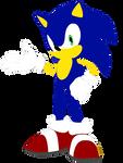 2D Sonic (Adventures Pose)