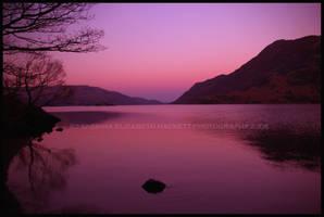 Sunset Mountain Lake by Hitomii