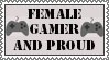 Female Gamer Proud Stamp by Hitomii