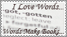 Words Make Books Stamp by Hitomii