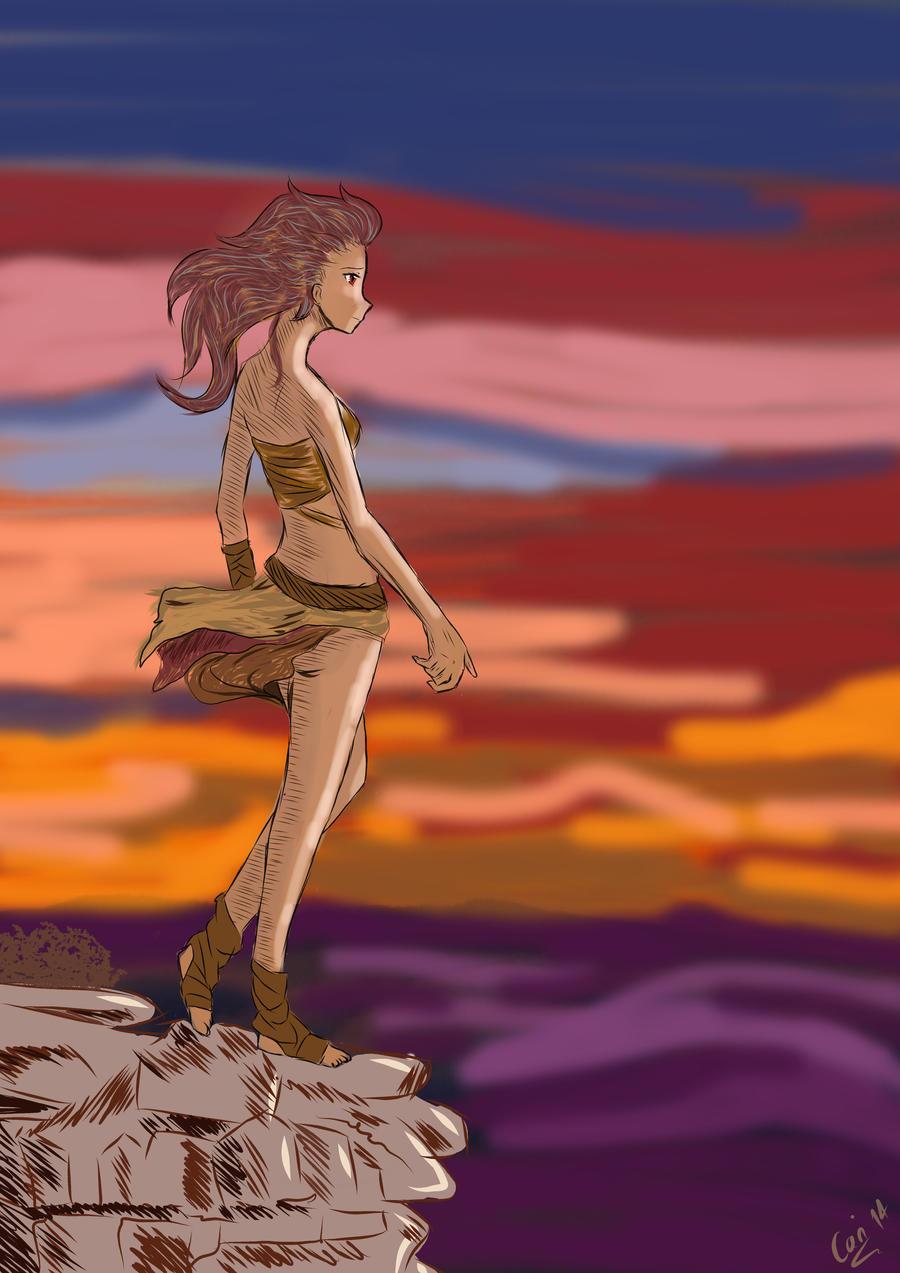 Hiyoma - princess of fire #3 by cari262