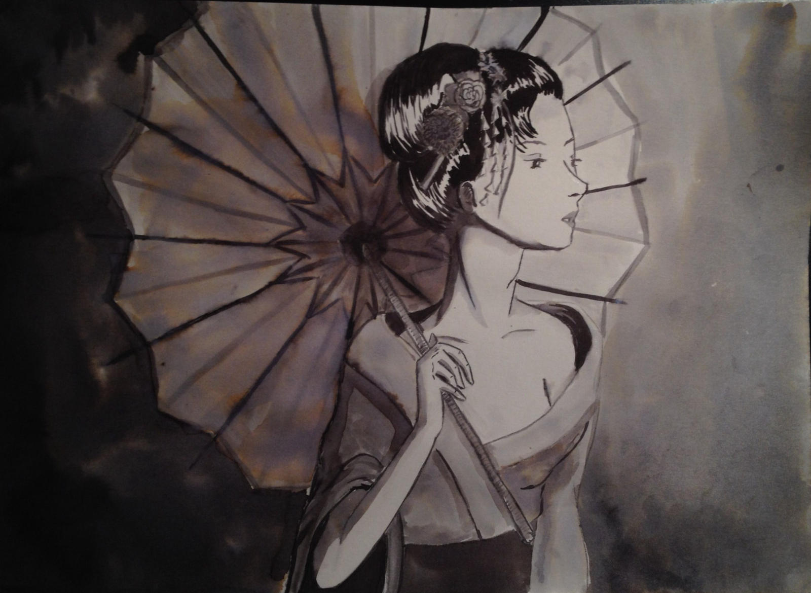 Geisha - Ink by cari262