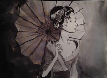 Geisha - Ink by cari262