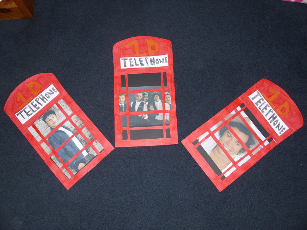 One Direction Phone Booths by duncancourtneytda